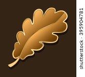 Oak Leaf. Stylized Piece Of...