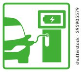 electric vehicle charging...   Shutterstock .eps vector #395905579