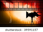 illustration of film with light  | Shutterstock . vector #39591157