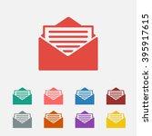 set of  red newsletter vector...