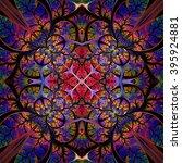 symmetrical seamless pattern of ... | Shutterstock . vector #395924881