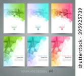 color abstract geometric... | Shutterstock . vector #395925739