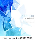 color abstract geometric... | Shutterstock . vector #395925781