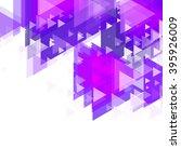 triangular design. vector... | Shutterstock .eps vector #395926009