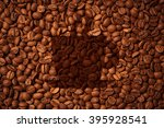 coffee beans background with... | Shutterstock . vector #395928541