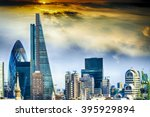 new skyline of london. | Shutterstock . vector #395929894