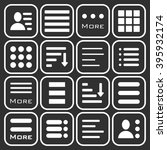 hamburger menu icons set. bar... | Shutterstock . vector #395932174