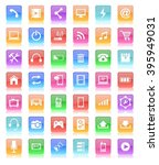 glossy button icon | Shutterstock . vector #395949031
