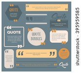 set of modern quote bubbles ... | Shutterstock .eps vector #395959585