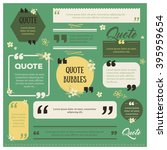 set of modern quote bubbles ... | Shutterstock .eps vector #395959654