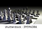 3d illustration of chess board... | Shutterstock . vector #39596386