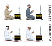 traditionally clothed muslim... | Shutterstock .eps vector #395965969