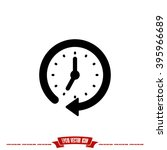 clock icon  | Shutterstock .eps vector #395966689