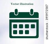 vector calendar icon. | Shutterstock .eps vector #395972587