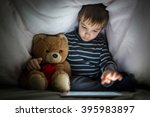 cute little kid with his friend ... | Shutterstock . vector #395983897