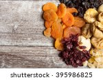 Dried Fruits On Wooden...