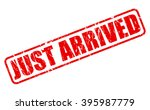 just arrived red stamp text on... | Shutterstock .eps vector #395987779