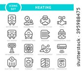 set outline icons of heating   Shutterstock .eps vector #395988475