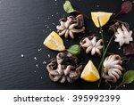 Raw Fresh Octopus With Lemon O...