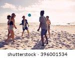 portrait of group of happy... | Shutterstock . vector #396001534