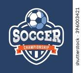 sport soccer logo. american... | Shutterstock .eps vector #396003421