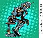 robot thinker artificial... | Shutterstock .eps vector #396003781
