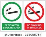 No Smoking And Smoking Area...