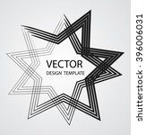 star retro shape. banner  badge ... | Shutterstock .eps vector #396006031