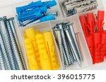 dowels and screws in plastic... | Shutterstock . vector #396015775