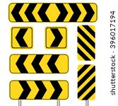 yellow sharp curve set in white ... | Shutterstock .eps vector #396017194