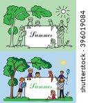 illustration of a big happy... | Shutterstock .eps vector #396019084