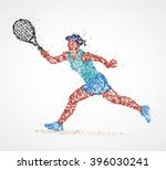 tennis  abstract  player | Shutterstock .eps vector #396030241
