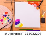 tools of the artist. drawing ... | Shutterstock . vector #396032209