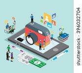 business technology mobile... | Shutterstock .eps vector #396032704