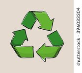 Green Vector Recycling Sign...