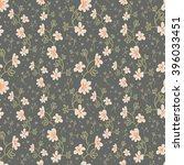 seamless vector floral pattern  ... | Shutterstock .eps vector #396033451