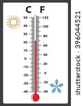 weather thermometer hot   cold | Shutterstock .eps vector #396044521