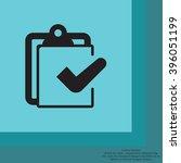checklist icon  vector... | Shutterstock .eps vector #396051199