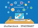 web development infographic | Shutterstock .eps vector #396058687