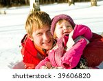 happy father and daughter... | Shutterstock . vector #39606820