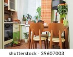 kitchen table and chairs with... | Shutterstock . vector #39607003