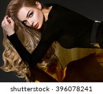 beautiful brown hair girl.... | Shutterstock . vector #396078241