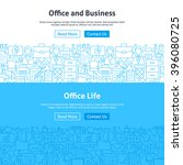 business office life line art... | Shutterstock .eps vector #396080725
