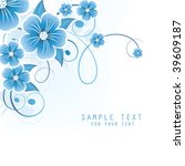 abstract floral background with ... | Shutterstock .eps vector #39609187
