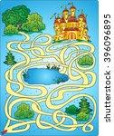find a way. fairy castle. maze...   Shutterstock .eps vector #396096895
