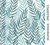seamless tropical leaf pattern. ... | Shutterstock .eps vector #396100921