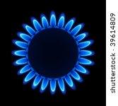 Natural Gas Flame. Vector.