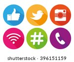 icons for social networking... | Shutterstock .eps vector #396151159