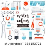 premium quality watercolor... | Shutterstock .eps vector #396153721