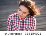 portrsit of beautiful young... | Shutterstock . vector #396154021